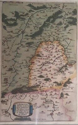 ~500 Year Old Map,  Depicting French Region Abraham Ortelius