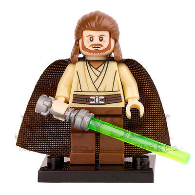 STAR WARS Rogue One Qui-Gon Jinn with Lightsaber Blocks Minifigures Toys Gifts