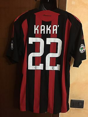 maglia shirt milan home match worn issued kaka' 08/9 formotion jersey