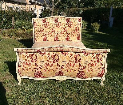 Vintage French Demi Corbeille Double Bed With Base Stunning