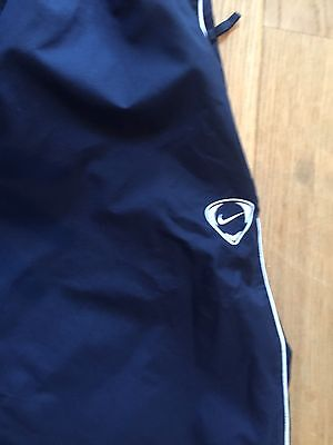 Pair Of Mens Nike Xl Navy Blue Fully Lined Showerproof Tracksuit Bottoms