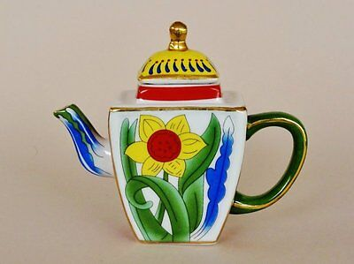 Maxwell & Williams *MINIATURE HERITAGE TEAPOT* Hand Painted Collectibles 2001