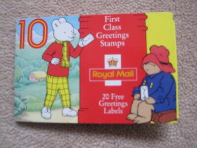Rupert and Paddington Bear 10 First /1st Class Stamps - 20 Free Greetings Labels