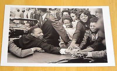 Magnum Photo Postcard ~ Martin Luther King, Baltimore Usa, 1963 By Leonard Freed