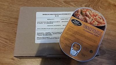 MRE Emergency French Army Food Combat Military RIE 1 meal food ration MENU #2