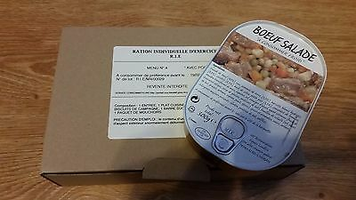 MRE Emergency French Army Food Combat Military RIE 1 meal food ration MENU #4