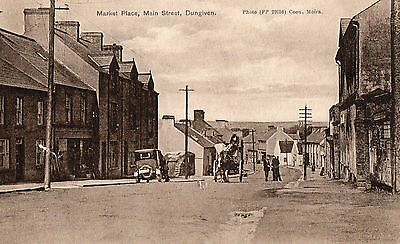 MARKET PLACE MAIN ST. DUNGIVEN DERRY LONDONDERRY IRELAND by COON for R. FALLOWS