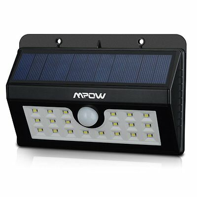 20 LED Motion Activated PIR Sensor Outside Lights Safety Solar Power Wall Xmas