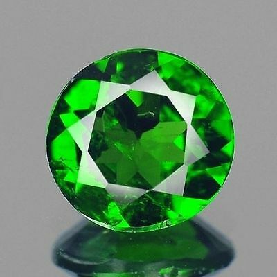 0.73ct 6mm Natural Loose Gemstones Cute Round Chrome Green Diopside Free Ship
