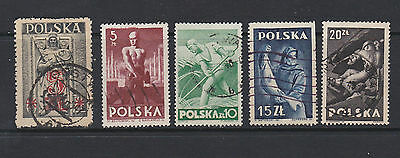 Poland. Five stamps of 1947