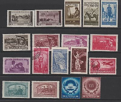 Small collection of vintage stamps of Romania