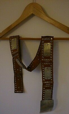 Brown Leather Silver Buckle Rodeo 70s Boho Seventies Bohemian Vintage Style Belt