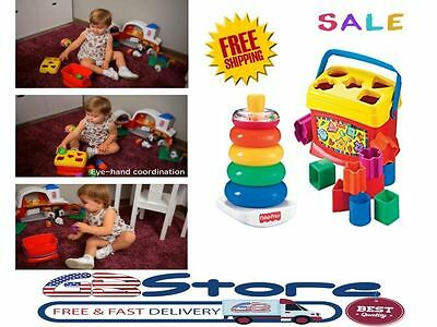 Baby First Toy Toddler Educational Shape Game Infant Kid Blocks Gift Learn Sort