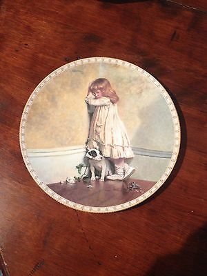 "English Royal Doulton Display Plate ""In Disgrace"" a Victorian Childhood"