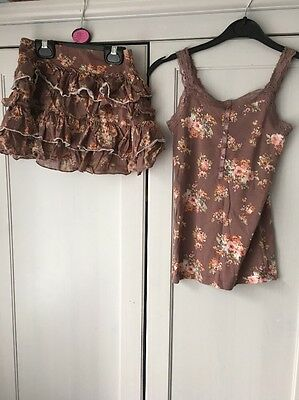 Girls Next Skirt And Vest Age 5