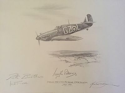 Nicolas Trudgian Original Battle Of Britain signed  Drawing