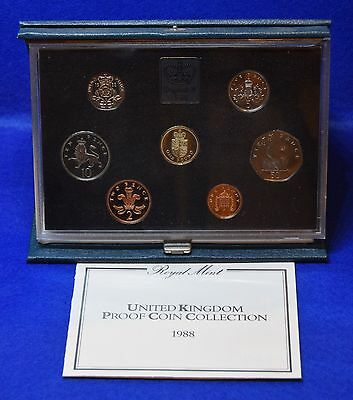 1988 Royal Mint Proof Coin Set In Blue Case With Coa