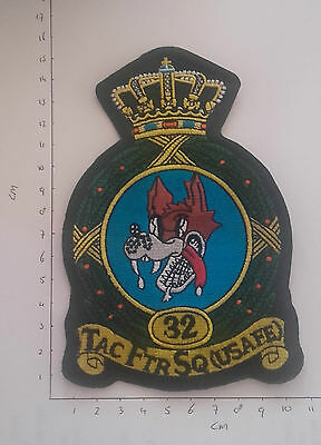 Original 32Nd Tfs Soesterberg Wolfhounds Cna Large Crown Patch