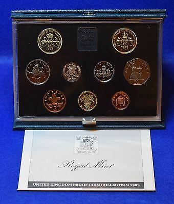 1989 Royal Mint Proof Coin Set In Blue Case With Coa