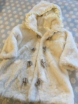 Luxurious Once Worn Girls designer FUR COAT 18 months Little darlings