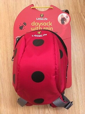 LittleLife Daysack With Reins And Hood Ladybird, Toddler Backpack