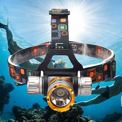 Underwater 50M 2000Lm XM-L T6 LED Swimming Headlight Diving Headlamp Waterproof
