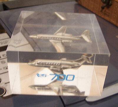 British Aerospace 125-700  jet lucite paperweight aircraft promotional