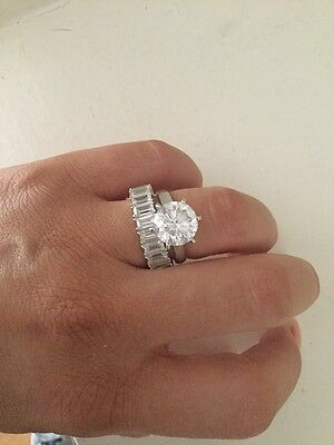 Secrets Shhh Huge 4ct Solitaire Engagement Ring In White Gold