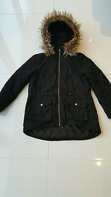 Girls Padded Parker Winter Coat 10-12 yrs size 146 -152