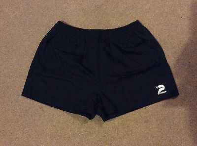 black rugby shorts