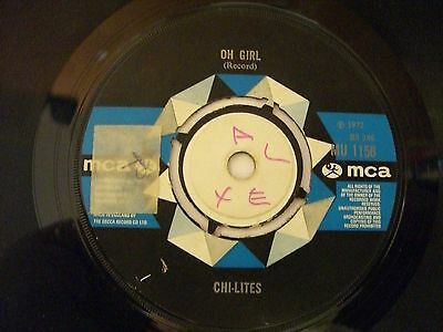 """The Chilites Oh Girl/being In Love  7"""" Vinyl"""
