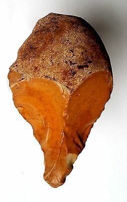 Acheulean Flint Nosed Hand Axe Tool Paleolithic
