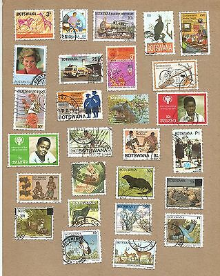 Botswana: 72 different used. (See 3 scans) (Ref 431)