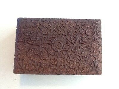 Beautifully carved wooden jewellery or trinket box