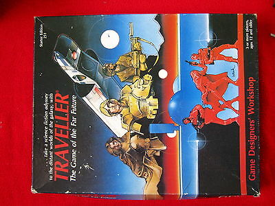 Traveller, science fiction role-playing game + 12 Figures- Rare