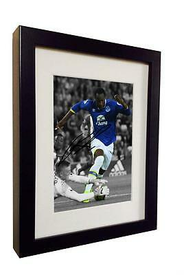 2016/17 Signed Romelu Lukaku Autographed Everton Photo Photograph Picture Frame