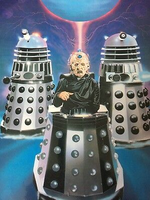 Dr Who - Davros And The Daleks - 1984 - Original Laminated Poster