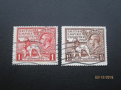 Gb Stamps - Kgv - Wembley Pair - Sg430 - Sg431 - Used - Two Scans