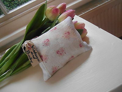 """Peony & Sage Lavender Filled Pillow """"Ruby White & Clay Pure Linen Fabric"""