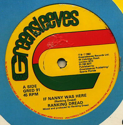 """RANKING DREAD: IF NANNY WAS HERE Limited Edition 12"""" 45 rpm ROOTS REGGAE"""