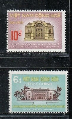 1970 South Vietnam stamps, full set MH, SC 383-4
