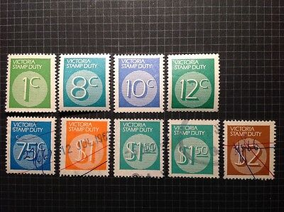 VICTORIA revenue, STAMP DUTY selection to $2, MUH and used, x 9