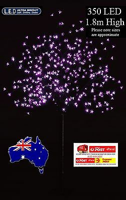 2x 1.8M 350LED PINK CHERRY BLOSSOM CHRISTMAS OUTDOOR TREE(2 Trees)