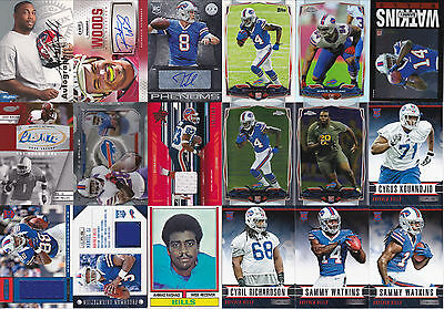 Huge 500+ BUFFALO BILLS Card Collection/Lot: AUTOGRAPHS, JERSEYS, RCs, INSERTS