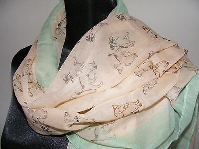 Jack Russell dog scarf - pink green borders - dog shows dog walking field trails