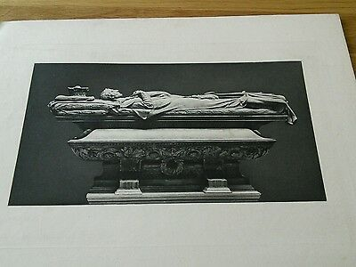 Duke of Wellington Sarcophagus Engraving  1890s