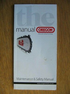 Oregon chainsaw maintenance and safety manual