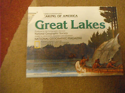 National Geographic Magazine Great Lakes Map