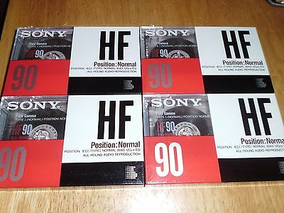 SONY HF90 Audio Cassettes (X4) NEW and SEALED