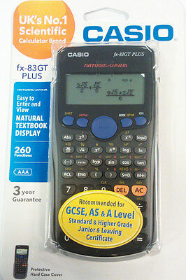 New Casio FX-83GT Plus Scientific Calculator.GCSE AS A Levels Exams Recommended